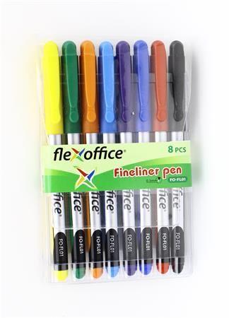 Tűfilc készlet, 0,3 mm, FL01, 8 különböző szín