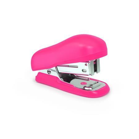 Tűzőgép, 24/6, 26/6, 12 lap, műanyag, Bug Mini pink