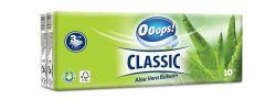 Papír zsebkendő, 3 rétegű, 10x10 db, Ooops! Classic, aloe vera