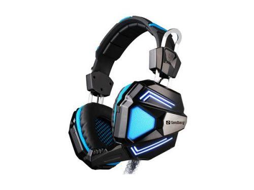 Fejhallgató, beépített mikrofonnal, USB csatlakozás, gaming, SANDBERG
