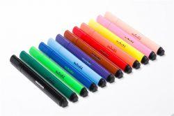 Filctoll készlet, Jumbo, 2 mm, NEBULÓ, 12 különböző szín