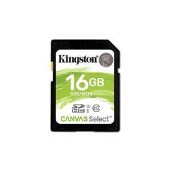 Memóriakártya, SDHC, 16GB, Class 10, UHS-I,  80/10MB/s, KINGSTON