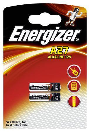 Elem, A27/LR27/MN27, 12V, 2 db, ENERGIZER