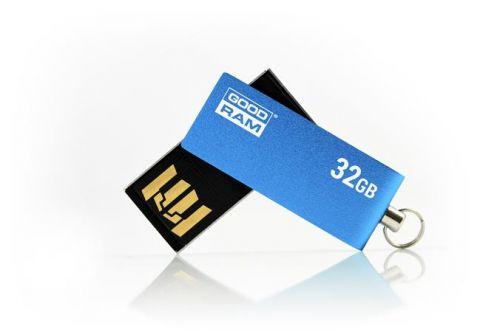 Pendrive, 32GB, USB 2.0, 20/5 MB/sec, fémház, GOODRAM