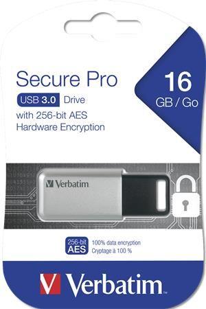 Pendrive, 16GB, USB 3.0, 100/20MB/sec, PC & MAC, SECURE DATA PRO