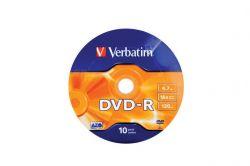 DVD-R lemez, 4,7GB, 16x, zsugor csomaglás, VERBATIM