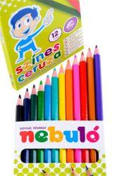 Színes ceruza készlet, hatszögletű,  NEBULÓ, 12 szín