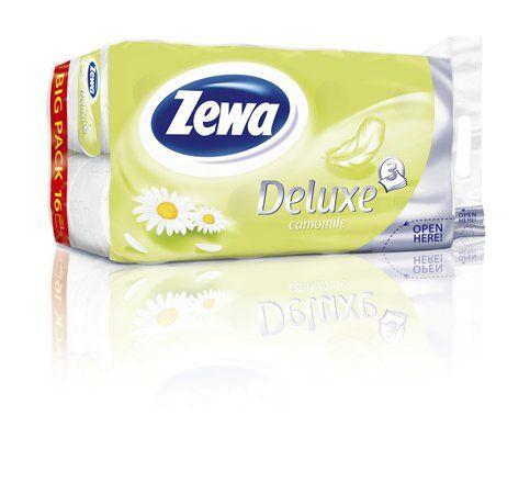 Toalettpapír, 3 rétegű, 16 tekercses, ZEWA Deluxe, kamilla