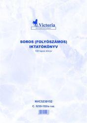 Nyomtatvány, iktatókönyv, 100 lap, A4, VICTORIA