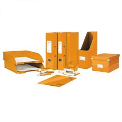 Iratrendező, 50 mm, A4, PP/PP, élvédő sínnel, lakkfényű, LEITZ