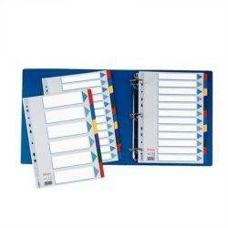Regiszter, laminált karton, A4, 6 részes, ESSELTE