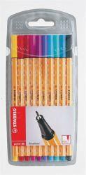 (1199) Tűfilc készlet, 0,4 mm, STABILO Point 88, 10 különböző szín