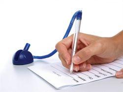 Ügyféltoll, félgömb, vegyes színű tolltest