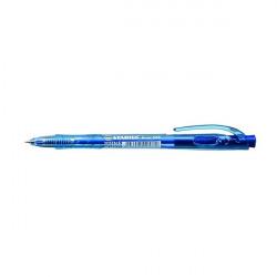 Golyóstoll, 0,3 mm, nyomógombos, Liner 308 kék