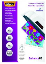 Meleglamináló fólia, 80 mikron, A3, fényes, 100 darab