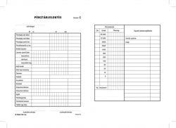 Nyomtatvány, pénztárjelentés, 25x2, A5, VICTORIA