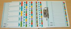Regiszter, laminált karton, A4, 1-10, ESSELTE