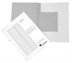 Pólyás dosszié, karton, A4, fehér (25 db)