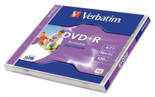 DVD+R lemez, nyomtatható, , ID, 4,7GB, 16x, normál tok, VERBATIM