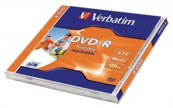 DVD-R lemez, nyomtatható, , ID, 4,7GB, 16x, normál tok, VERBATIM