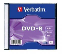 DVD+R lemez, AZO, 4,7GB, 16x, vékony tok, VERBATIM