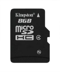 Memóriakártya, Micro SDHC, 8GB, Class 4, KINGSTON