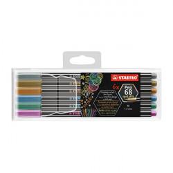 Filctoll STABILO Pen 68  metallic 6 db-os készlet