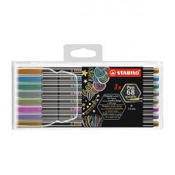 Filctoll STABILO Pen 68 metallic  8 db-os készlet