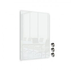 Üvegtábla MEMOBOARDS mágneses 60x40 cm fehér