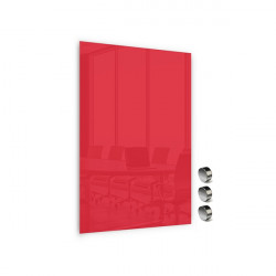 Üvegtábla MEMOBOARDS mágneses 60x40 cm piros