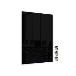 Üvegtábla MEMOBOARDS mágneses 90x60 cm fekete