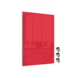 Üvegtábla MEMOBOARDS mágneses 90x60 cm piros