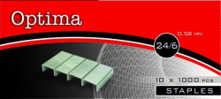Tűzőkapocs OPTIMA 24/6 1000 db/dob