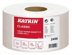 Toalettpapír, 2 rétegű, nagytekercses, 100 m, KATRIN Classic Gigant S2, fehér