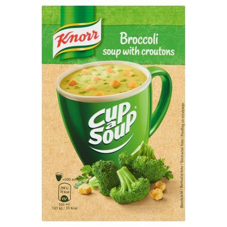 Instant leves, 16 g, KNORR Cup a Soup, brokkolikrémleves