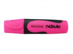 Szövegkiemelő, 2-5 mm, NEBULO, neon rózsaszín