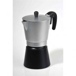 KALIFA EZÜST-FEKETE Kávéfőző kotyogós 4 személyes