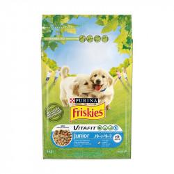 állateledel száraz Friskies vitafit junior kutyáknak csirkehússal, zöldségekkel és tejjel 3kg