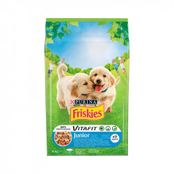 állateledel száraz Friskies vitafit junior kutyáknak csirkehússal, zöldségekkel és tejjel 8kg