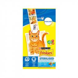 állateledel száraz Friskies sterilcat ivartalanított macskáknak lazaccal és zöldségekkel 1,5kg