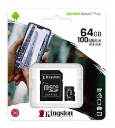 Canvas Select Plus 64GB CL10 microSDXC memóriakártya + adapter (SDCS2/64GB)