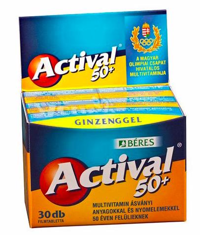 Actival 50+ filmtabletta