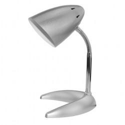 BASIC C TALPÚ EZÜST + 4W LED Asztali lámpa izzóval