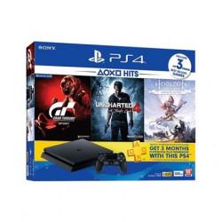 PS4 1TB + GT SPORT + HOR ZD + UNCHARTED4 Játékkonzol