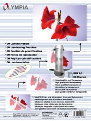 Meleglamináló fólia, A6, 80 mikron, 100 db