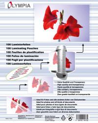 Meleglamináló fólia, A6, 125 mikron, 100 db