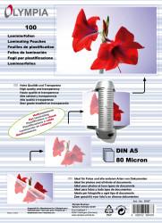 Meleglamináló fólia, A5, 80 mikron, 100 db